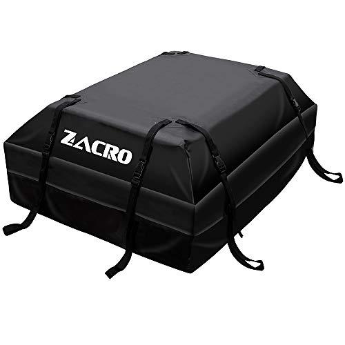Zacro 425L Borsa Portatutto per Tetto Dell'auto Car Rooftop Cargo Bag Sacchetto di Carico del Sacchetto di Tetto dell'automobile Impermeabile Durable Box Box da Tetto per Viaggi, Nero