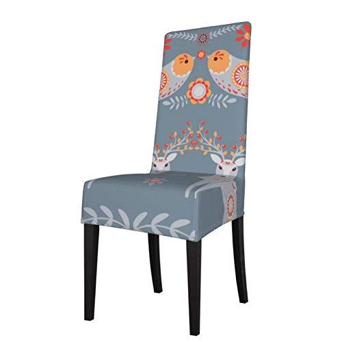 Fundas nórdicas para silla de comedor de invierno, elásticas, extraíbles, lavables y protectoras, para cocina, restaurante, fiesta, ceremonia