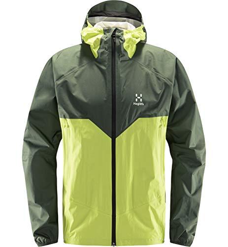 Haglöfs Regenjacke Herren L.I.M Proof Multi Jacket wasserdicht, Winddicht, atmungsaktiv Fjell Green/Sprout Green L L