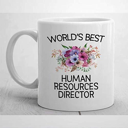 Director de recursos humanos presente para el director de recursos humanos Taza para el director de recursos humanos Taza de café Taza divertida del director de recursos humanos Mejor regalo de direct