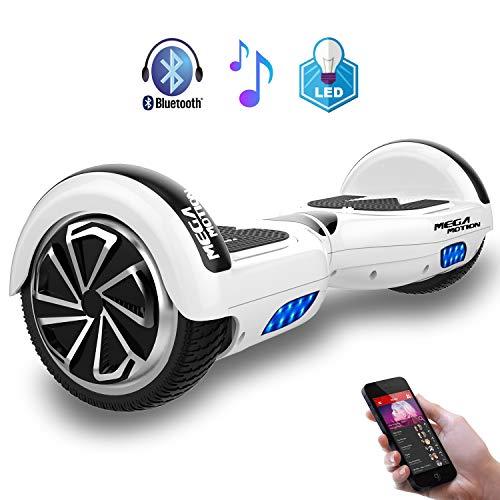 MEGA MOTION 6.5'' 電動バランススクーター バランスボード 電動キックボード Bluetooth (白)