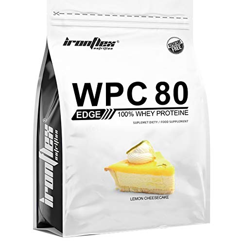 IronFlex WPC 80 Edge – 1 Pack – Whey Protein Concentrate – Full Amino Acid Profile – Cutting Edge Supplement – Zero Sugar (Lemon Cheesecake, 2270g)