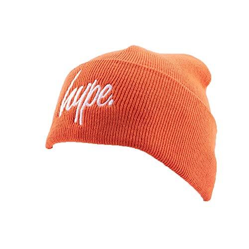 Hype Bonnet à Revers Script Orange et Blanc - Mixte