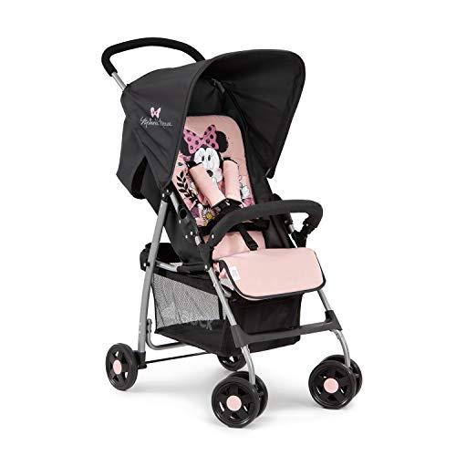 Hauck Sport Silla de paseo ultra ligera de 5,9kg, sistema de arnés de 5 puntos, respaldo reclinable, plegable, para bebes de 6 meses a 15kg, rosa