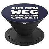 Muss zum Cricket! - Lustiges Fun Spruch Kricket - PopSockets Ausziehbarer Sockel und Griff für Smartphones und Tablets
