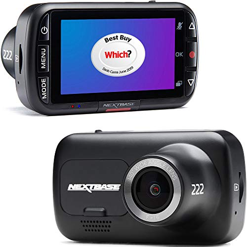 Nextbase 222 Dash Cam Full 1080p/30fps HD Recording In Car DVR Camera-...