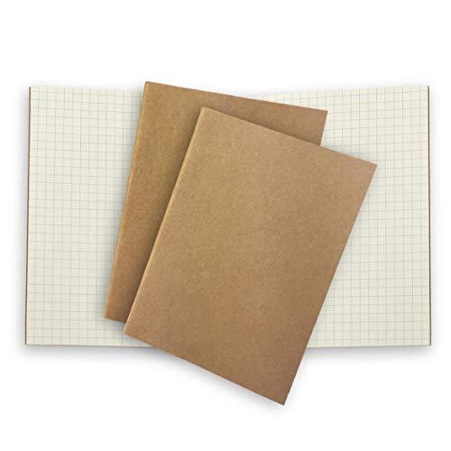 3 Folletos De Repuesto De Papel - Cuadrados Papel Blanco Para Cuaderno De Viaje Rellenable De Pasaporte Pequeño (12,5 x 9 cm) - Blanco Liso Sin Forro