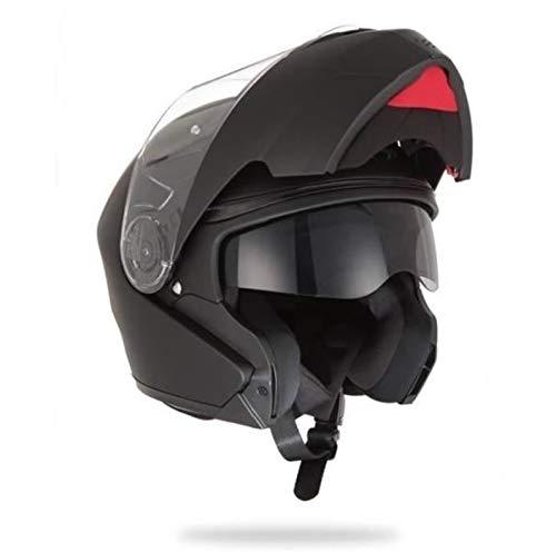 Stormer, motorrad helm Turn schwarz mat, M