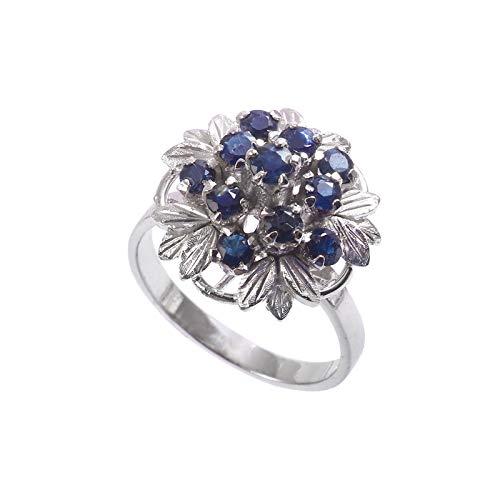 Anillo de piedras preciosas de topacio azul natural de Londres   Anillo de plata de ley 925   Anillo de regalo para mujer   Anillo de piedras preciosas   Anillo de plata hecho a mano