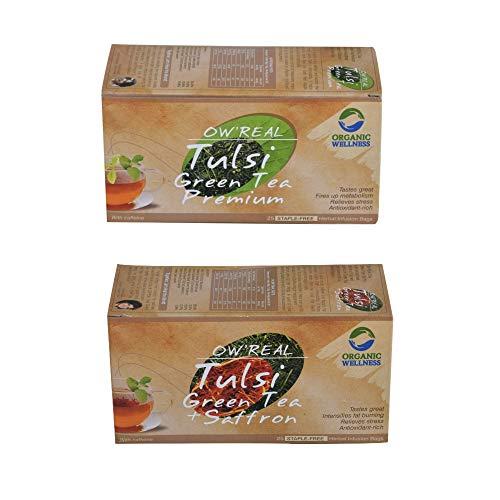 Organic Wellness Weight Loss Green Tea Pack, 2 Teaboxes (25 Teabags Each)
