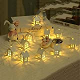 Fiesta de Navidad Luces Decorativas 2m 10 LED Caliente Caliente Caliente Tipo de casa Lindo batería Lámpara Decorativa Boda para Navidad, Fiesta