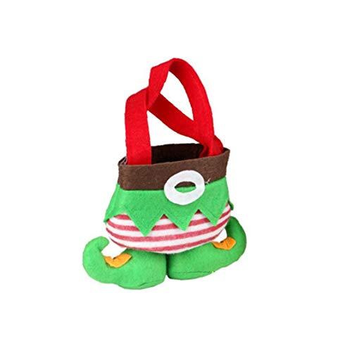 Rrunzfon Weihnachtsdekor-Geschenk-Tasche Elf Theme Candy Bag Trick or Treat Süßigkeiten Aufbewahrungstasche Cartoon-Taschen-Tasche