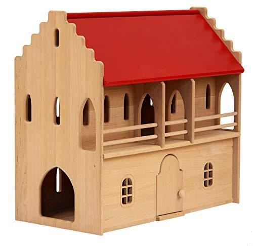 931 1261 Drewart Ritterhaus Ritterburg Ritter Burg aus Holz Puppenhaus Spielzeug