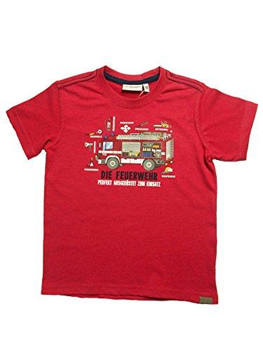 SALT AND PEPPER Feuerwehr T-Shirt ROT Perfekt ausgerüstet für den Einsatz (128/134)