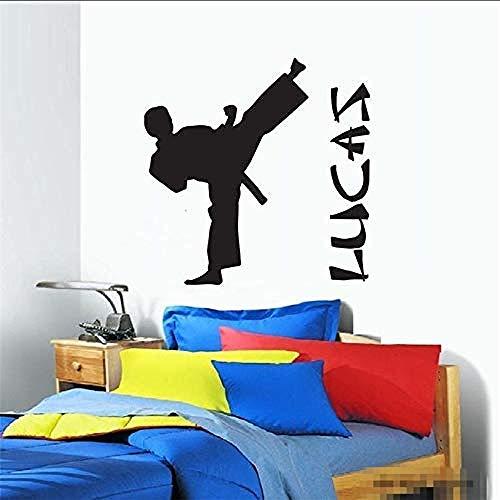 Vinyl wandtattoo kinderzimmer junge karate taekwondo kinderzimmer wandaufkleber 59 * 97 Cm