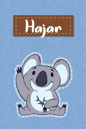 Hajar: Lined Writing Notebook for Hajar With Cute Koala, 120 Pages, 6x9