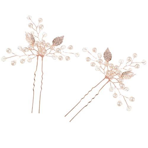Baoblaze Set de 2 Pinces Bijoux pour Cheveux - Pinces en Alliage Qualité Salon de Coiffure - Pour tous Types de Cheveux - Or