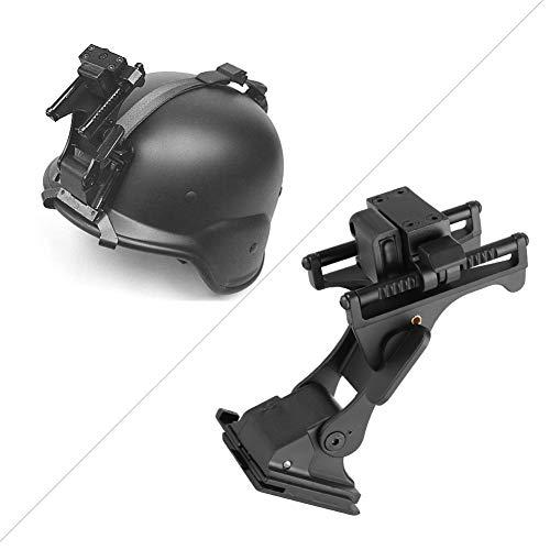 Weikeya Support de casque entièrement métallique, 12 x 5,7 x 7 cm, support de lunettes de vision nocturne, en alliage d'aluminium