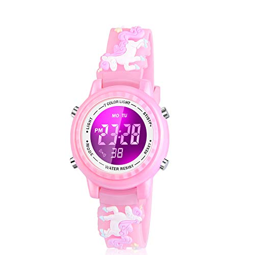 Viposoon Gifts for 3-12 Years Old Girls, Led Digital Watches for Kids Birthday Presents Gifts for 3 4 5 6 7 8 9 10 Year Old Girls Xmas Gifts for 4-10 Year Old Kids