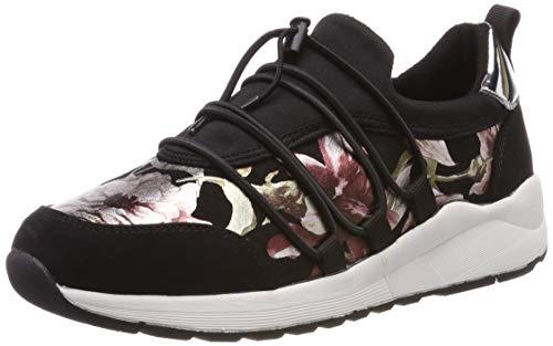 s.Oliver Damen 5-5-23616-22 098 Sneaker, Black Comb, 40