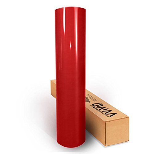 Red Gloss 60 Inches x 1 Foot Car Wrap Vinyl Roll with Air Release 3MIL-VViViD8