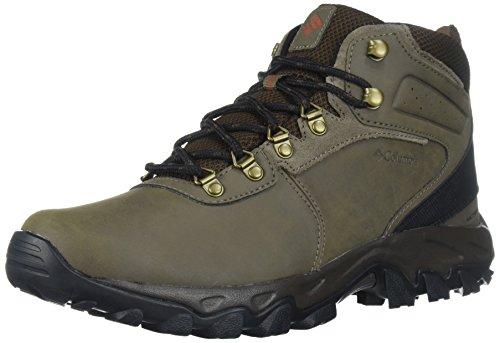 Columbia mens Newton Ridge Plus Ii Waterproof Boot Hiking Shoe, Mud/Sanguine, 9 US