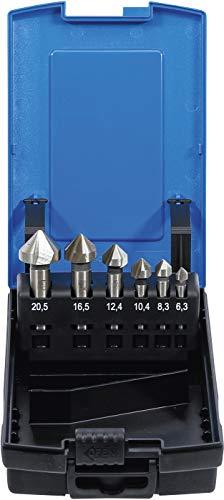 BGS 1997 | Kegelsenker-Satz | 6-tlg. | HSS | DIN 335 Form C | Ø 6,3 - 8,3 - 10,4 - 12,4 - 16,5 - 20,5 mm | inkl. Kunststoff-Kassette