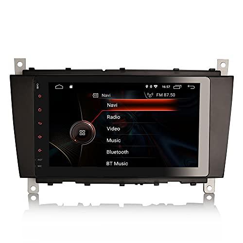 ERISIN 8 Zoll Android 10.0 Autoradio für Mercedes Benz C/CLK/CLC Klasse W203 W209 Unterstützt GPS-Navi Carplay Android Auto DSP Bluetooth A2DP DVB-T/T2 WiFi DAB+ Mirror-Link 2GB RAM+16GB ROM