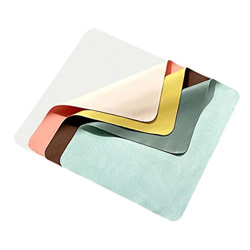 Paño de anteojos de gamuza de 4 piezas de colores surtidos, paño de limpieza de microfibra, accesorios para gafas, toallitas para teléfonos móviles, paño de limpieza
