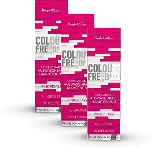 Colour-Freedom Ultra-Vibrant Pink Pizazz XL 150 ml 3er Sparpack 2+1 auswaschbare Haartönung | 3x 150ml