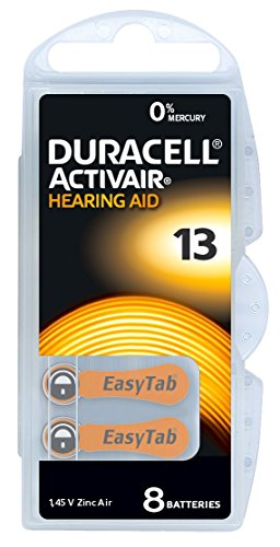 Duracell Activair Batterien Hörgeräte Größe 13(80Batterien)