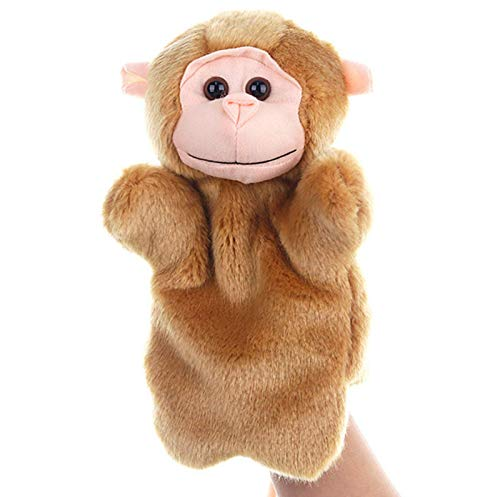 SweetGifts Monkey Hand Puppets Plush Animal Toys for Imaginative Pretend Play Stocking Storytelling...