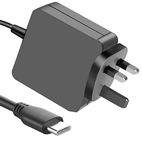 DTK 45W Type C Universal Charger Adapter for HP, Acer, Asus, Chromebook, Dell, Samsung Galaxy, MacBook Pro, Sony, Lenovo, Tablets, Motorola and Other Devices with USB-C