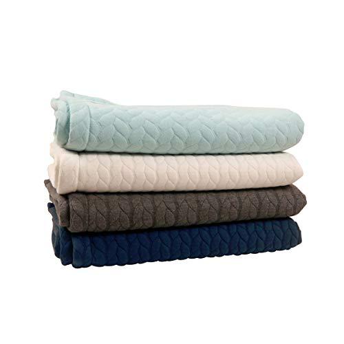 Kaiser 6567130 Decke Quilly - Knit Design super soft, beige