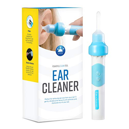 Gleebee Upgraded Electric Ear Cleaner - Automatic Ear Wax Removal Tools - Soft Silicone, Ear Vacuum Suction and Two Spoons