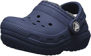 Crocs Kids  Classic Lined Clog | Kids  Slippers Navy/Charcoal 3 Little Kid