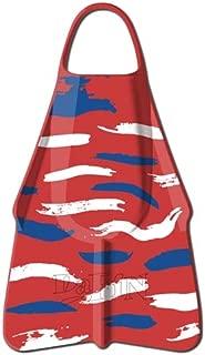 DaFin Swim Fins and Sizes (Warrior Red/White/Blue (Zak Noyle), Large (11-12))