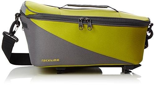 Racktime Unisex– Erwachsene Talis Gepäckträgertasche, green, 37x23x18cm