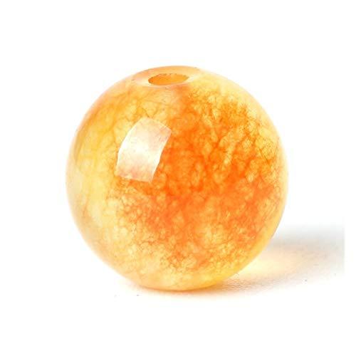 JINGGEGE Natural Cuentas de Piedras Preciosas Perlas Sueltas Orange Jasper Rosario Màs 6/8/10 mm 15 '' Hacer la Piedra del Jade Pulsera de Cuarzo for Gem