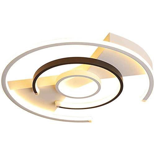 BFMBCHDJ Candelabro moderno Roung Square forma Aluminio Wave Lustre Lámparas de techo para el hogar Dia40x40x5cm 45W Blanco cálido