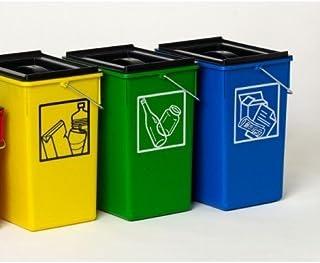 PLASTICOS HELGUEFER - Cubo Ecologico Selectivo 15L con Tapa-