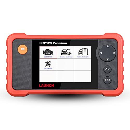 LAUNCH Europe CRP 129 Premium OBD2 Diagnosegerät Auto Auslesegerät KFZ Motor ABS SRS Automatik Getriebe Code-Scanner