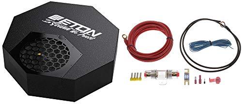Eton RES10A - Aktiver Reserverad Subwoofer mit Strom Anschluss Kabel Kit 6qmm² - Subwoofer für Reserveradmulde