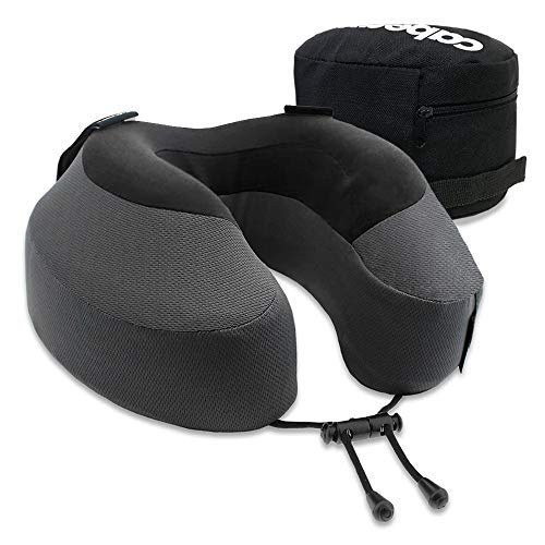 Cabeau Evolution S3 Therapeutic Pillow Straps to Any Seat, Prevents Head Drop and Neck Pain, Doctor-Recommended for Neutral Spine Alignment, 360° Support for Travel, Home, Office, Gaming Comfort