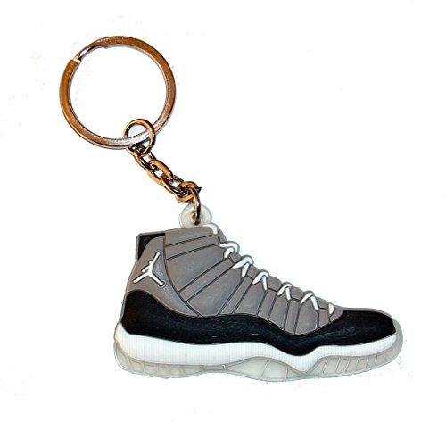 Air Jordan 11Portachiavi a forma di scarpa sportiva, colore grigio chiaro
