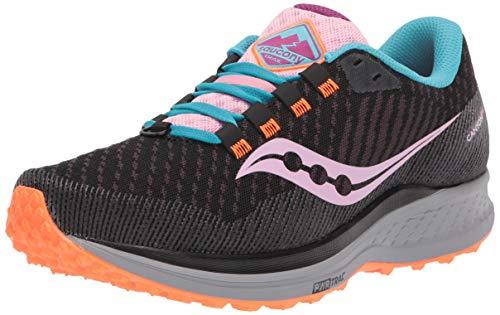 Saucony Women's Canyon TR Trail Running Shoe, Future Black, 8.5