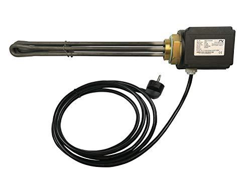 Generisch HEIZELEMENT HEIZSTAB HEIZPATRONE 3KW,3000 W NEU 5//4 1 1//2 BRAUCHWASSER mit Thermostat