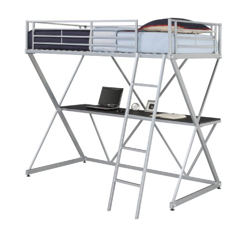 DHP Bunk Bed, Twin, Silver