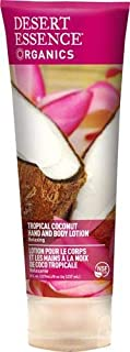 Desert Essence Organics Hand & Body Lotion Tropical Coconut, 8 oz