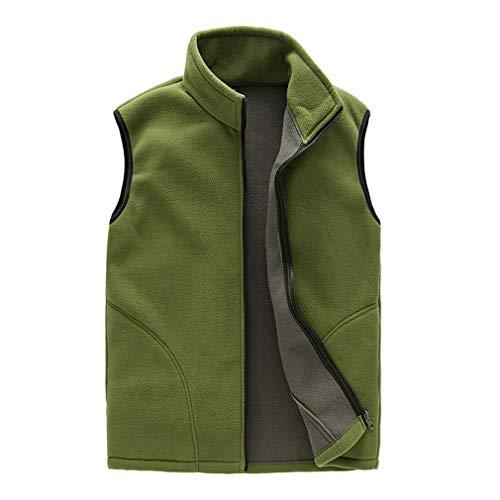 Juleya 9 Farben Herren Damen Fleece Weste mit Reißverschluss Herbst Winter Ärmellos Weste Jacke Solide Color Thermo-Unterwäsche Freizeitjacke Oberbekleidung M-XXXL